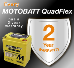 Every Moto Batt Battery Has A 2 Year Warranty